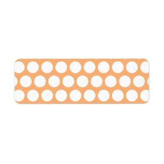 Orange Sherbet and White Polka Dots Custom Return Address Label