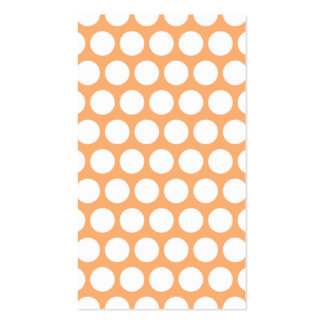 Orange Sherbet and White Polka Dots Business Card Template