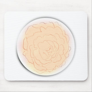 Orange Sherbet Cabbage Rose Mouse Pad