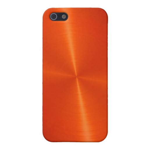 orange shiny stainless steel metal iphone se 5 5s cover zazzle. Black Bedroom Furniture Sets. Home Design Ideas