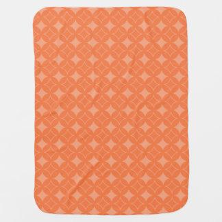 Orange shippo pattern swaddle blanket