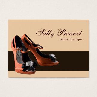 Orange Shoe Boutique Store Business Card