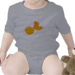 Orange shoes & ball baby creeper