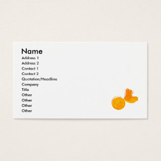 Orange shoes & ball business card