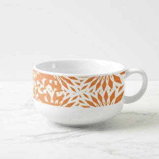 Orange Shooting Stars Soup Bowl With Handle