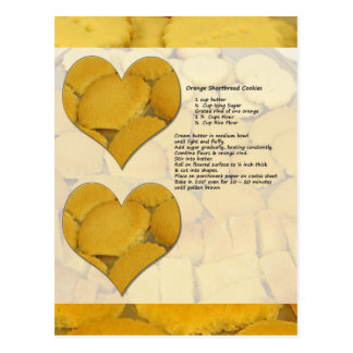 Orange Shortbread Recipe Postcard