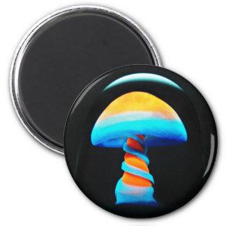 Orange Shroom Magnet