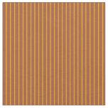 [ Thumbnail: Orange & Sienna Pattern of Stripes Fabric ]