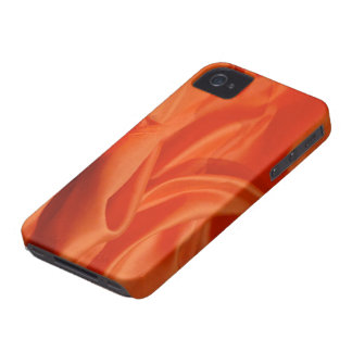 Orange Silk Fabric iPhone 4/4S Case-Mate Case