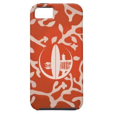 Beach Themed Orange & Silver Coral iPhone SE/5/5s Case