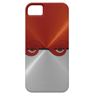 Orange Silver Stainless Metallic | Cut Out Pattern iPhone SE/5/5s Case