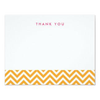 "Orange Simple Chevron Thank You Note Cards 4.25"" X 5.5"" Invitation Card"