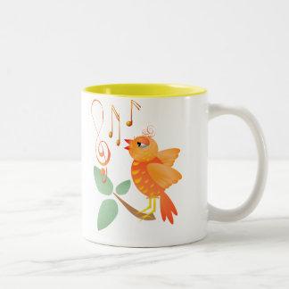 Orange Singing Bird Mugs