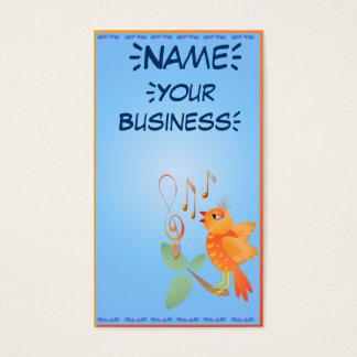 Orange Singing Bird profilecard_business_vertic... Business Card