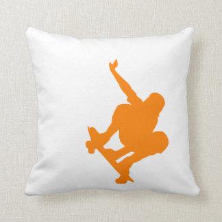 Orange Skater; Skateboard Pillow