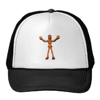 Orange Skeleton Trucker Hat