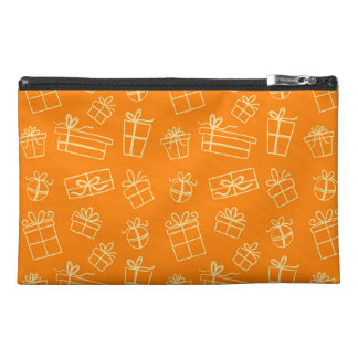 Orange Sketchy Gift Pattern Travel Accessories Bag