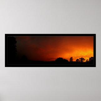 Orange Skies Poster
