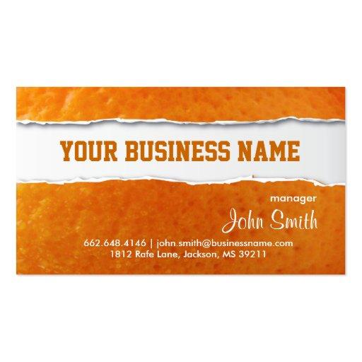 Orange Skin Texture Business Card