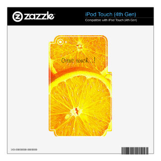 Orange Skins For iPod Touch 4G
