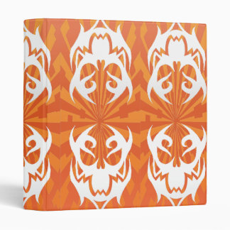 orange skull 3 ring binders