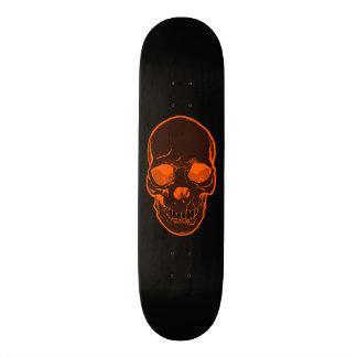 Orange Skull Graphics Skateboard for Boys & Girls