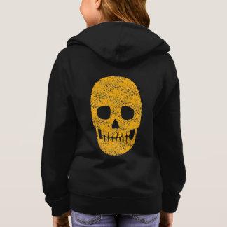 Orange Skull - Halloween - Kids Hoodie Sweatshirt