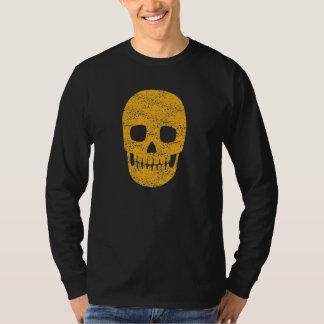 Orange Skull - Mens Halloween Tee - Long Sleeve