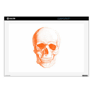 Orange skull laptop decal