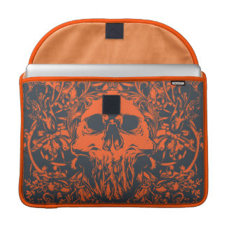 Orange Skull Sleeve For MacBook Pro