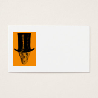 Orange Skull Top Hat Business Card