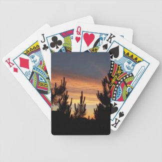 Orange Sky At Dusk Playing Cards