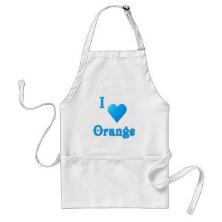 Orange -- Sky Blue Adult Apron