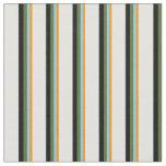 [ Thumbnail: Orange, Sky Blue, Olive Green, Black & Light Cyan Fabric ]