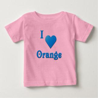 Orange -- Sky Blue Shirt