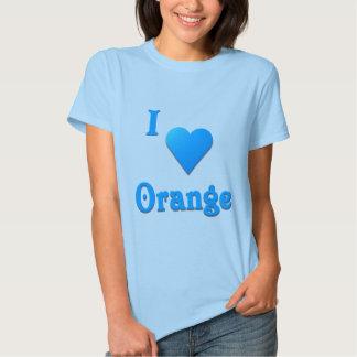 Orange -- Sky Blue Tee Shirt