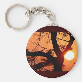 Orange Sky Keychain
