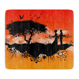 Orange Sky Romance - Cutting Board