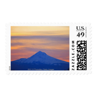 Orange Sky Snow Capped Blue Mountain Postage