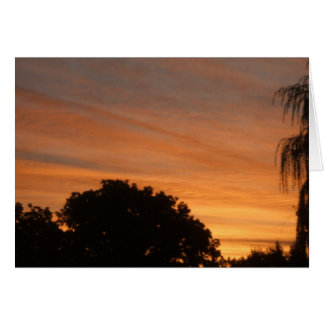 Orange Sky Sunrise Greeting Card