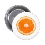Orange slice 2 inch round button