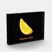 Orange Slice Acrylic Award