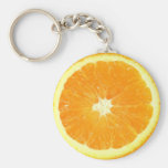 Orange Slice Basic Round Button Keychain