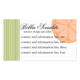 Orange Slice Double-Sided Standard Business Cards (Pack Of 100)
