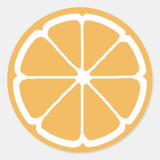 ORANGE SLICE by SHARON SHARPE Classic Round Sticker