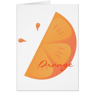 Orange Slice Card