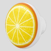 Orange Slice Ceramic Knob