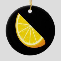 Orange Slice Ceramic Ornament