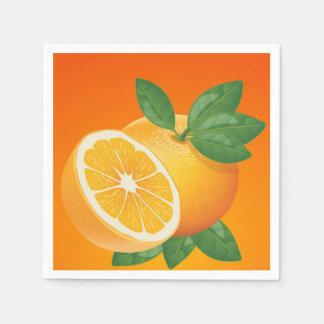 Orange slice cocktail napkin