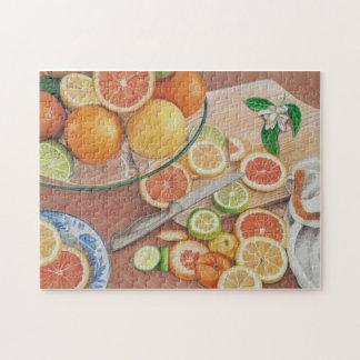 orange slice display colored pencil drawing print jigsaw puzzle